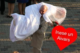 Inese un Aivars kāzu dienā